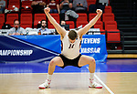 KENOSHA, WI - APRIL 28:  Springfield's Sean Zuvich celebrates his kill at the Division III Men's Volleyball Championship held at the Tarble Athletic and Recreation Center on April 28, 2018 in Kenosha, Wisconsin. (Photo by Steve Woltmann/NCAA Photos via Getty Images)