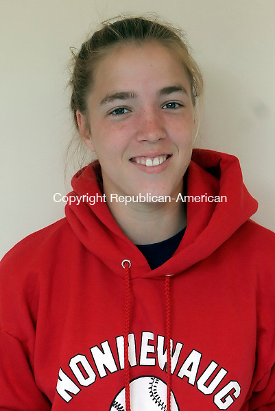 WOODBURY, CT-25 April 2006-042506TK01- Caitlin South, Athlete of the Week from Nonnewaug High School.  Tom Kabelka Republican-American