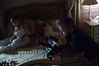 Annabelle: Creation (2017)<br /> Behind the scenes photo of David F Sandberg<br /> *Filmstill - Editorial Use Only*<br /> CAP/KFS<br /> Image supplied by Capital Pictures