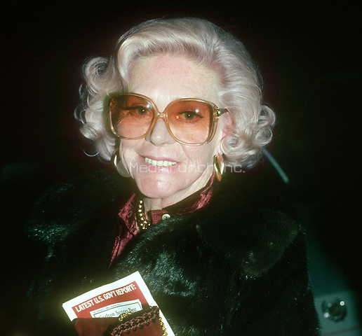 Alice Faye 1978<br /> Photo By John Barrett/PHOTOlink.net / MediaPunch