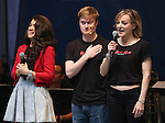 Sarah Stiles, Steven Boyer and Geneva Carr performing at United presents 'Stars in the Alley' in  Shubert Alley on May 27, 2015 in New York City.