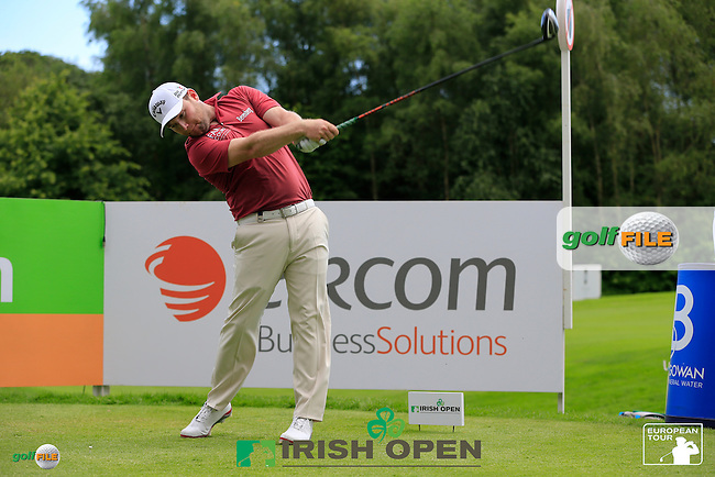 Eircom team with Branden Grace (RSA) during Wednesday's Pro-Am of the 2014 Irish Open held at Fota Island Resort, Cork, Ireland. 18th June 2014.<br /> Picture: Eoin Clarke www.golffile.ie