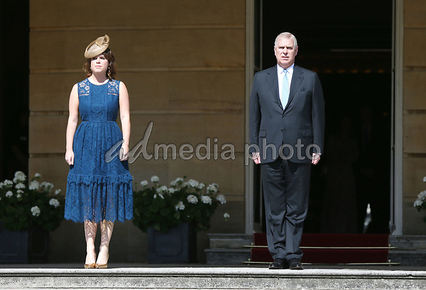 25 May 2017 - Princess Eugenie and Prince Andrew Duke of York during the Royal Society for the Prevention of Accidents (RoSPA) Centenary Garden Party at Buckingham Palace, London. Photo Credit: ALPR/AdMedia