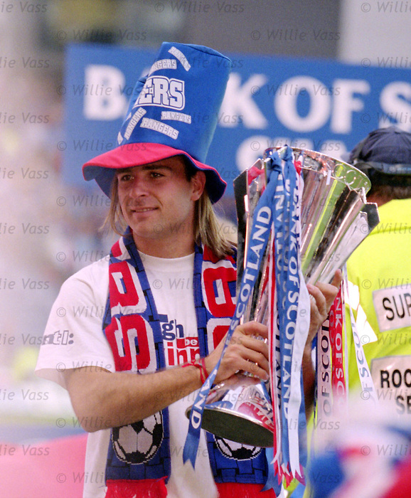 Seb Rozental with the SPL trophy, April 2000