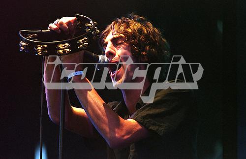 THE VERVE -  Richard Ashcroft<br />  - performing live at Pinkpop Festival Landgraaf Netherlands - 11 Jun 1998.  Photo <br /> Credit : Paul Bergen/Dalle/IconicPix
