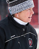 Katey Stone (Harvard - Head Coach) - The Harvard University Crimson practiced at Fenway on Monday, January 9, 2017, in Boston, Massachusetts.