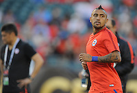 Philadelphia, PA - Tuesday June 14, 2016: Arturo Vidal prior to a Copa America Centenario Group D match between Chile (CHI) and Panama (PAN) at Lincoln Financial Field.