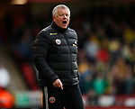 Chris Wilder manager of Sheffield Utd during the Premier League match at Bramall Lane, Sheffield. Picture date: 7th March 2020. Picture credit should read: Simon Bellis/Sportimage