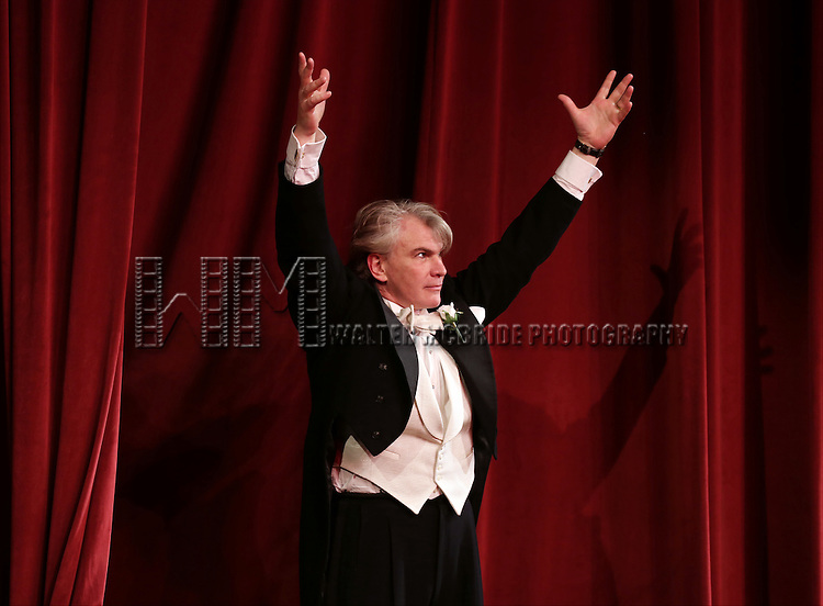 Douglas Sills during the Broadway Opening Night Performance Curtain Call for 'Living on Love' at The Longacre Theatre on April 20, 2015 in New York City.
