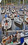 Węgorzewo, 2006-05-07. Port jachtowy w Węgorzewie.