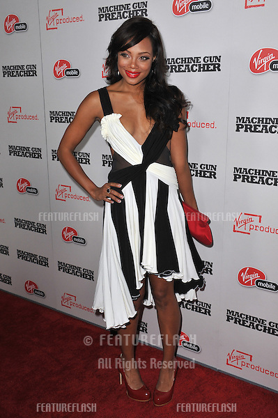 "Tiffany Hines at the Los Angeles premiere of ""Machine Gun Preacher"" at the Academy of Motion Picture Arts & Sciences Theatre, Beverly Hills..September 21, 2011  Los Angeles, CA.Picture: Paul Smith / Featureflash"