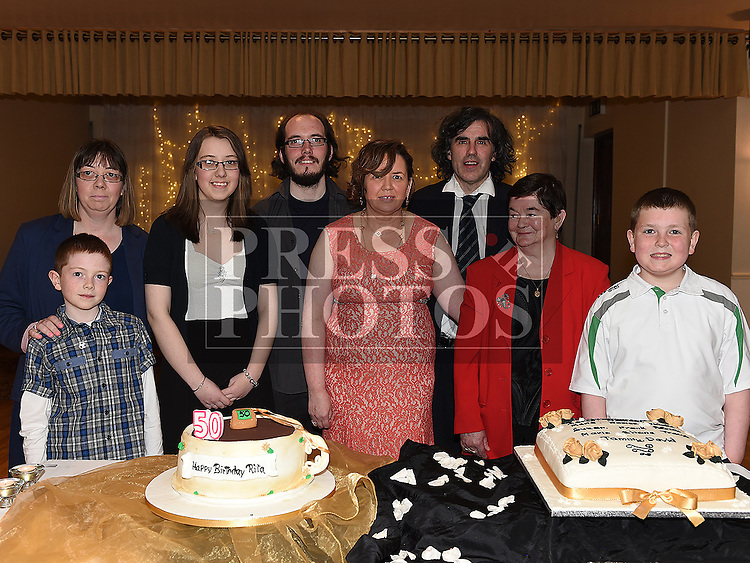 Rita Hanratty celebrating her 50th birthday in The Glenside Hotel with friends all who have birthdays in May. Photo:Colin Bell/pressphotos.ie