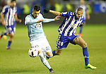 Deportivo Alaves' Deyverson Silva (r) and Celta de Vigo's Gustavo Cabral during Spanish Kings Cup semifinal 2nd leg match. February 08,2017. (ALTERPHOTOS/Acero)