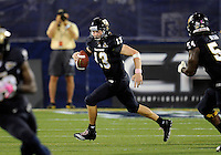 Florida International University football player quarterback Wesley Carroll (13) plays against Troy University on October 26, 2011 at Miami, Florida. FIU won the game 23-20 in overtime. .