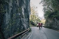 the breakaway group<br /> <br /> Il Lombardia 2017<br /> Bergamo to Como (ITA) 247km