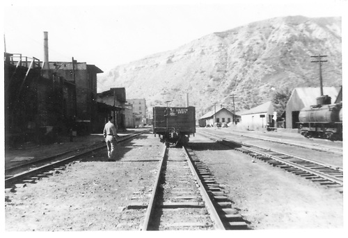 D&amp;RGW Durango north yard from 9th St, looking south.<br /> D&amp;RGW  Durango, CO  Taken by Maxwell, John W. - 1947