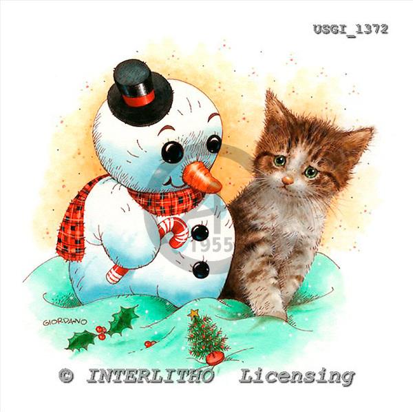 GIORDANO, CHRISTMAS SANTA, SNOWMAN, WEIHNACHTSMÄNNER, SCHNEEMÄNNER, PAPÁ NOEL, MUÑECOS DE NIEVE, paintings+++++,USGI1372,#X#