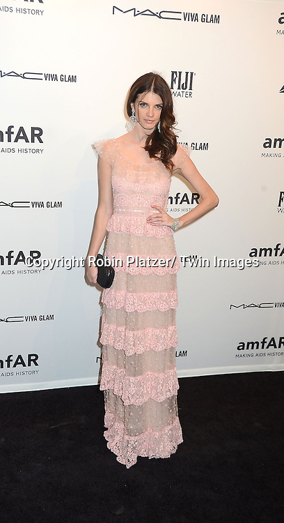 Jeisa Chiminazzo attends the amfAR New York Gala to kick off Fashion Week on February 6, 2013 at Cipriani Wall Streetin New York City. The honorees were Heidi Klum, Janet Jackson  and Kenneth Cole.
