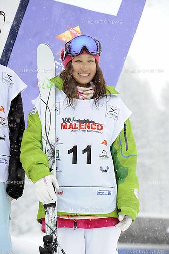Ako Iwamoto (JPN), MARCH 30, 2013 - Moguls : Ako Iwamoto of Japan during the FIS Freestyle Skiing Junior World Championships Women's Dual Moguls in Valmalenco, Italy. Ako Iwamoto finished 4th place. (Photo by Hiroyuki Sato/AFLO)