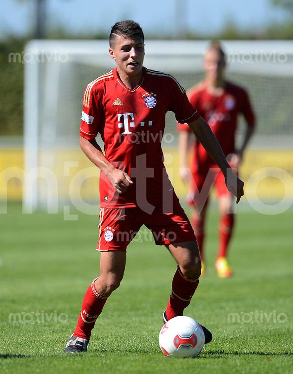 FUSSBALL  Regionalliga Sued   SAISON  2012/2013   11. Spieltag   08.09.2012 FC Bayern Muenchen II - VfL Frohnlach Alessandro Schoepf (FC Bayern II)