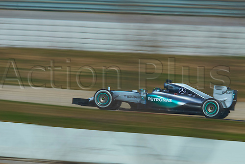 20.02.2015. Barcelona, Spain.  Nico Rosberg (Mercedes Petronas), during day two of Formula One Winter Testing at Circuit de Catalunya (Barcelona)