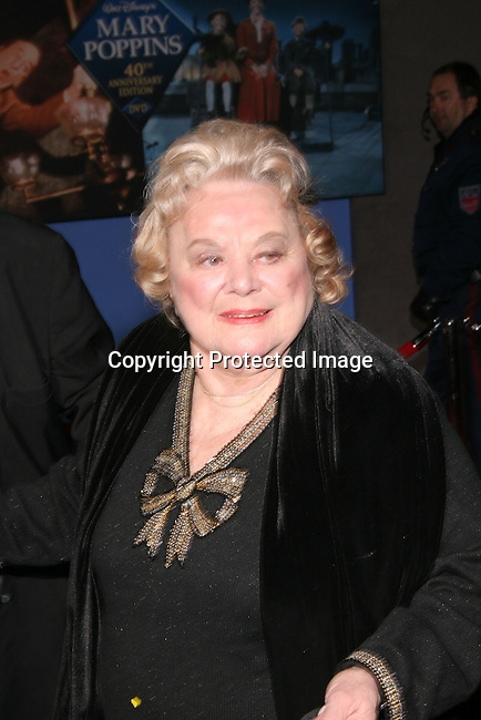 Rose Marie<br />&quot;Mary Poppins&quot; 40th Anniversary and Launch of the Special Edition DVD<br />El Capitan Theatre<br />Hollywood, CA, USA<br />Tuesday, November 30th, 2004<br />Photo By Celebrityvibe.com/Photovibe.com, <br />New York, USA, Phone 212 410 5354, <br />email: sales@celebrityvibe.com