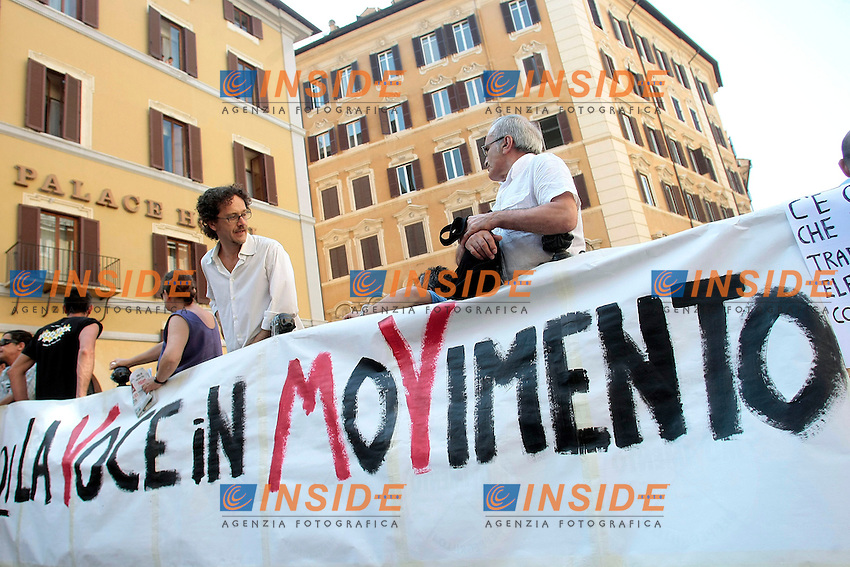 Roma 18/06/2013 Piazza Montecitorio. Manifestazione dei Grillini.<br /> Photo Samantha Zucchi Insidefoto
