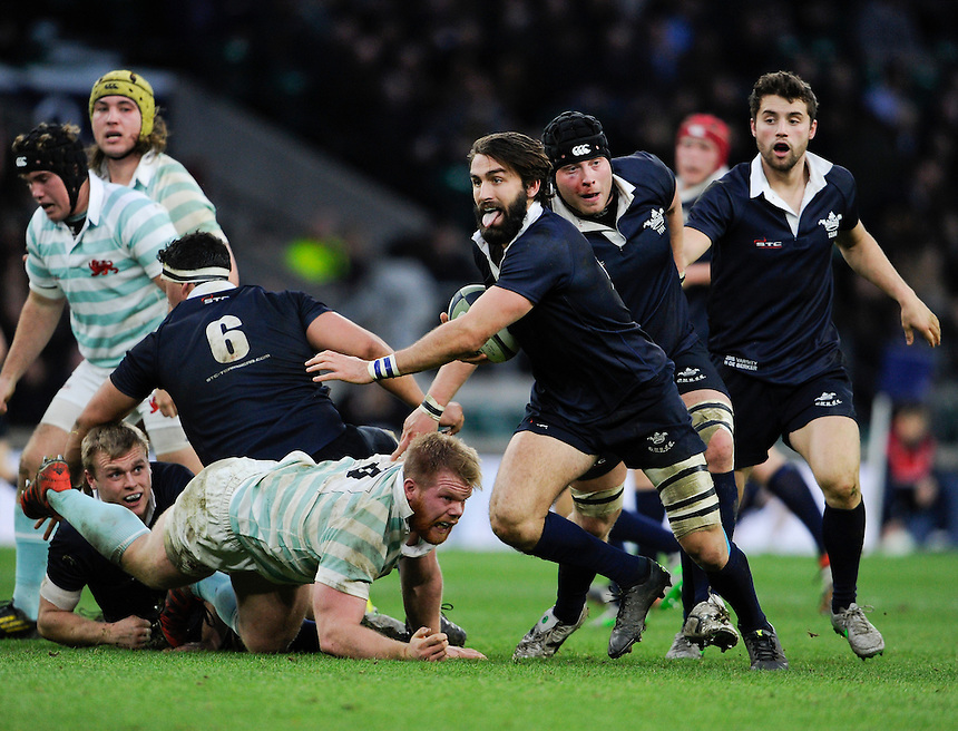 Oxford University&rsquo;s Matt Janney in action during todays match<br /> <br /> Photographer Ashley Western/CameraSport<br /> <br /> Rugby Union - 2015 Varsity Match - Oxford v Cambridge - Thursday 10th December 2015 - Twickenham - London<br /> <br /> &copy; CameraSport - 43 Linden Ave. Countesthorpe. Leicester. England. LE8 5PG - Tel: +44 (0) 116 277 4147 - admin@camerasport.com - www.camerasport.com