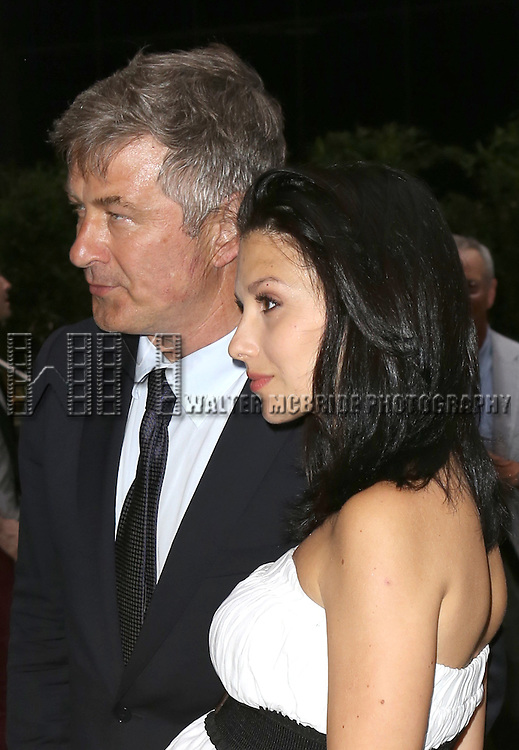 Alec Baldwin; Hilaria Baldwin attend 'The Unavoidable Disappearance Of Tom Durnin' Opening Night at Laura Pels Theatre on June 27, 2013 in New York City.