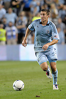 Sporting KC defender Matt Besler (5) in action..Sporting Kansas City defeated Philadelphia Union 2-1 at LIVESTRONG Sporting Park, Kansas City, KS.