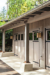 Photo of a residential garage on remote Shaw Island This image is available through an alternate architectural stock image agency, Collinstock located here: http://www.collinstock.com