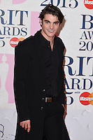 R J Mitte arrives for the BRIT Awards 2015 at the O2 Arena, London. 25/02/2015 Picture by: Steve Vas / Featureflash
