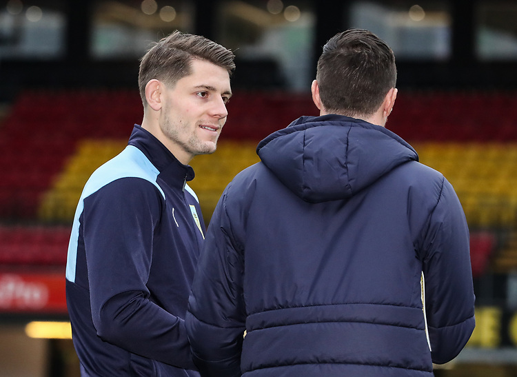 Burnley's Matthew Lowton pictured before the match<br /> <br /> Photographer Andrew Kearns/CameraSport<br /> <br /> The Premier League - Watford v Burnley - Saturday 19 January 2019 - Vicarage Road - Watford<br /> <br /> World Copyright &copy; 2019 CameraSport. All rights reserved. 43 Linden Ave. Countesthorpe. Leicester. England. LE8 5PG - Tel: +44 (0) 116 277 4147 - admin@camerasport.com - www.camerasport.com