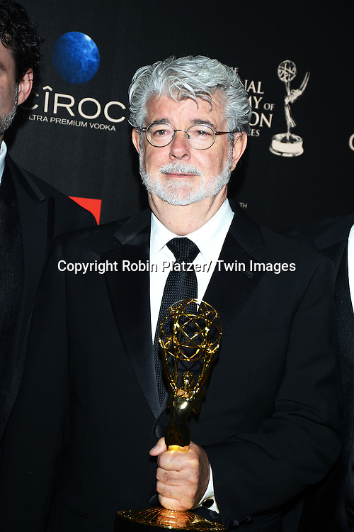 winner George Lucas  attends The 40th Annual Daytime Emmy Awards on<br />  June 16, 2013 at the Beverly Hilton Hotel in Beverly Hills, California.