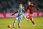 Jane Ross of Manchester City Women during the Champions League last 16 tie, first leg between Manchester City Women and Brondby IF at the Academy Stadium. <br /> <br /> Photo credit should read: Lynne Cameron/Sportimage