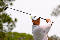 Yechun Yuan (CHN) on the 4th tee during round 2 of the Australian PGA Championship at  RACV Royal Pines Resort, Gold Coast, Queensland, Australia. 20/12/2019.<br /> Picture TJ Caffrey / Golffile.ie<br /> <br /> All photo usage must carry mandatory copyright credit (© Golffile | TJ Caffrey)