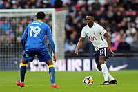 Tom Soares of AFC Wimbledon and Victor Wanyama of Tottenham during Tottenham Hotspur vs AFC Wimbledon, Emirates FA Cup Football at Wembley Stadium on 7th January 2018