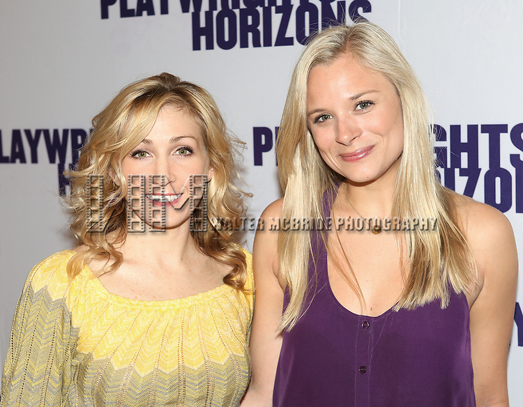 Sarah Jane Shanks & Tess Soltau  attending the Meet & Greet the Cast & Creative team of the Playwrights Horizons World Premiere Production of 'Far From Heaven - A New Musical' at their Rehearsal Studio in New York City on 4/15/2013...
