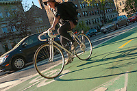 Brooklyn, NY -  30 April 2011 - The Prospect Park West cycle track