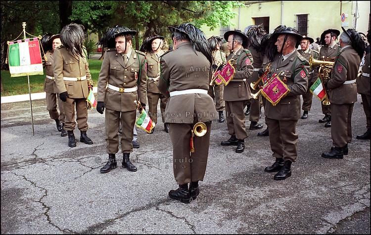 """Milano,  v.le Suzzani,  caserma """"Mameli""""  3° Reggimento Bersaglieri Goito."""
