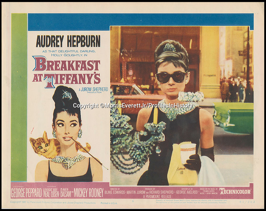 BNPS.co.uk (01202 558833)<br /> PIc: MorrisEverettJr/ProfilesInHistory/BNPS<br /> <br /> ***Please Use Full Byline***<br /> <br /> Breakfast at Tiffany's (1961). <br /> <br /> The world's largest collection of movie posters boasting artwork from almost every single film made in the last century has emerged for sale for &pound;5 million.<br /> <br /> The colossal archive features 196,000 posters from more than 44,000 films, and has been singlehandedly pieced together by one avid collector over the last 50 years.<br /> <br /> Morris Everett Jr has dedicated his life's work to seeking out original posters from every English-speaking film ever made and compiling them into a comprehensive library.<br /> <br /> The sale is tipped to make $8 million - around &pound;5 million pounds - when it goes under the hammer in one lot at Califonia saleroom Profiles in History on December 17.