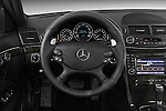 Steering wheel view of a 2009 Mercedes E63 AMG Wagon
