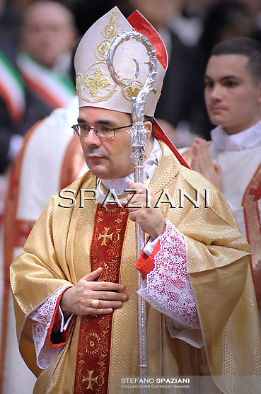 Monsignor Antonio Guido Filipazzi during the holy mass and rite of Episcopal ordination celebrated by Pope Benedict XVI in St. Peter's basilica at the Vatican on February 5, 2011. Monsignor Antonio Guido Filipazzi one of the five bishops ordained today by Pope Benedict XVI.