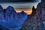 Sunset from Angel's Landing in Zion National Park Utah