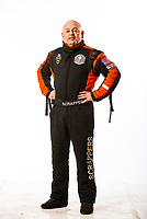 Feb 8, 2018; Pomona, CA, USA; NHRA top fuel driver Mike Salinas poses for a portrait during media day at Auto Club Raceway at Pomona. Mandatory Credit: Mark J. Rebilas-USA TODAY Sports