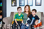 Susan with her sons Liam and Sean McElligott