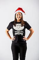 Wednesday 02 November 2016<br /> Pictured: Julie Parienti<br /> Re: Swansea City Christmas Photo shoot, Liberty Stadium, Wales, UK