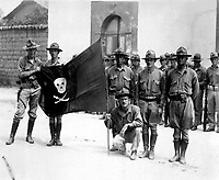 Sandino's Flag.  Nicaragua, 1932.  (Marine Corps)<br /> EXACT DATE SHOT UNKNOWN<br /> NARA FILE #:  127-N-516038<br /> WAR & CONFLICT BOOK #:  376