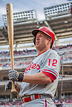 15 September 2013: Philadelphia Phillies infielder Pete Orr in action against the Washington Nationals at Nationals Park in Washington, DC. The Nationals took the rubber match of their 3-game series 11-2 to keep Washington's wildcard hopes alive. Mandatory Credit: Ed Wolfstein Photo *** RAW (NEF) Image File Available ***