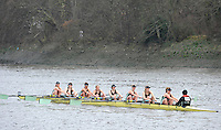London, Great Britain,  Cambridge University  BC, B, rowing past Chiswick Pier, during the 2012 Head of the River Race, raced over Rowing Course Championship course,  Mortlake to Putney  4.25 Miles, on the River Thames Saturday  03/03/2012 [Mandatory Credit: © Peter Spurrier/Intersport Images]